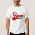 Groom baseball style design t-shirt