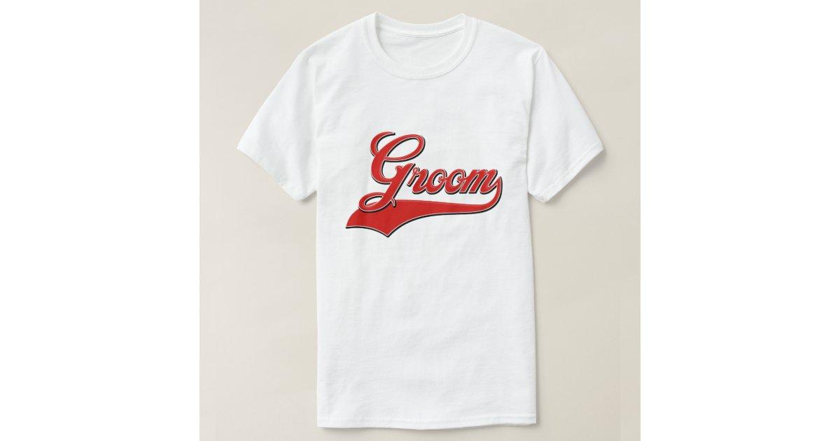 Groom Baseball Style Design T Shirt Zazzle