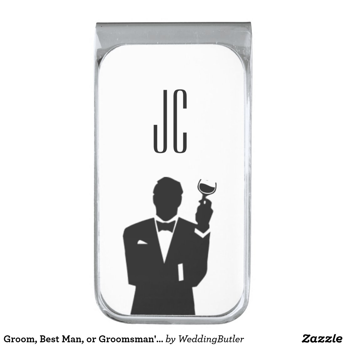 Groom, Best Man, or Groomsman's Money Clip