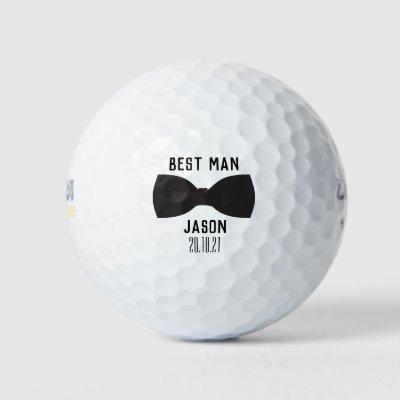 Groom Best Man Wedding Party Gift Golf Balls