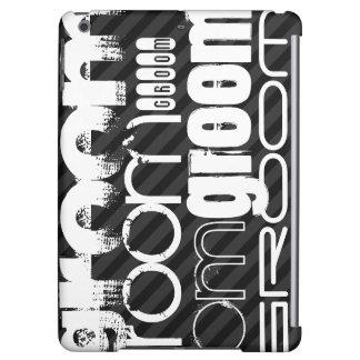 Groom; Black & Dark Gray Stripes iPad Air Covers