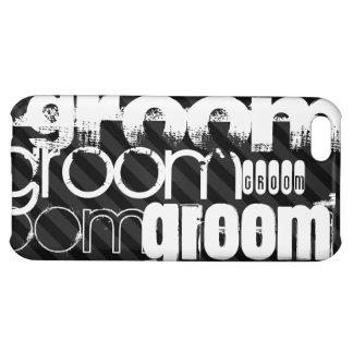 Groom; Black & Dark Gray Stripes Cover For iPhone 5C