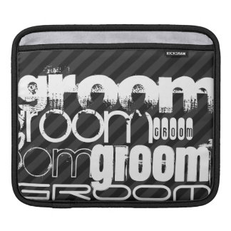 Groom; Black & Dark Gray Stripes Sleeve For iPads