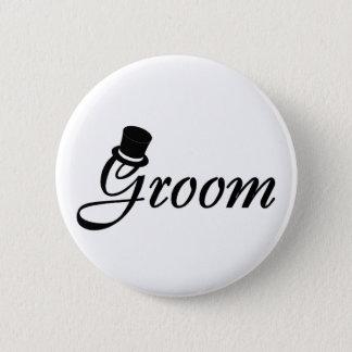 Groom (Blk Top Hat) Button