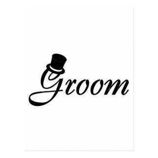 Groom (Blk Top Hat) Post Card