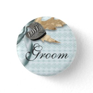 Groom Blue lace country locket Pins