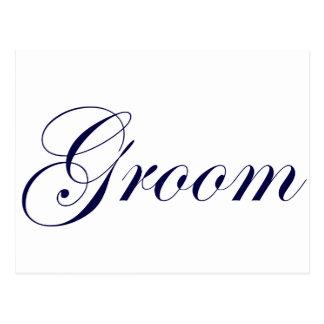 Groom-Blue Postcard