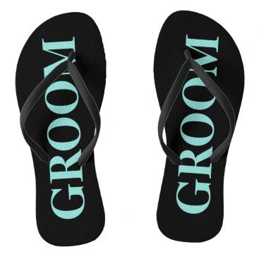 Groom Blue Tiffany Wedding Party Flip Flops
