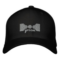 Groom Bow Tie Embroidered Baseball Cap