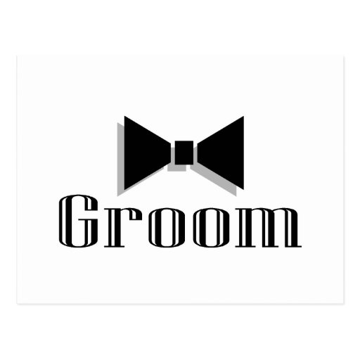 Groom (Bow Tie) Post Card
