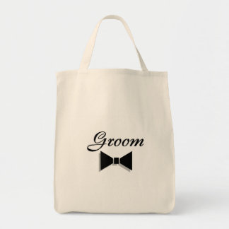 Groom Bowtie Canvas Bags