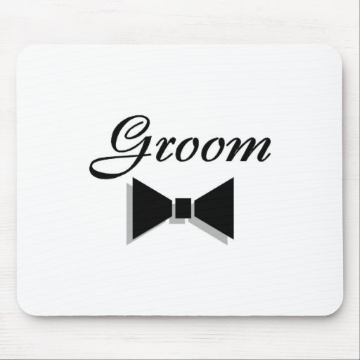 Groom Bowtie Mouse Pad