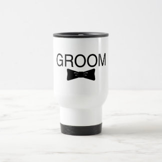 Groom Bowtie Travel Mug
