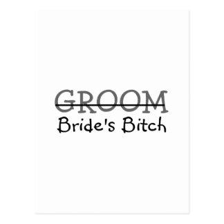 Groom Brides Bitch Postcard