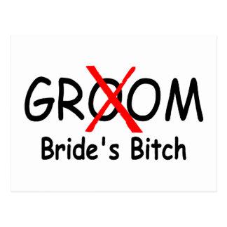 Groom Brides Bitch (Red) Postcard