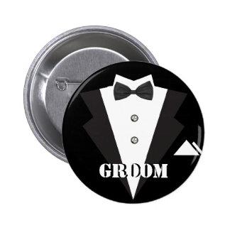 Groom Button Pins