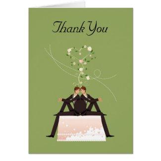 Groom Cake Gay Thank You Wedding Card card