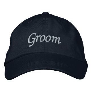 Groom Cap Embroidered Hats