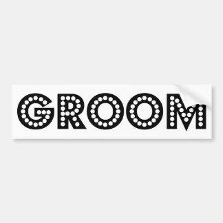 Groom Car Bumper Sticker