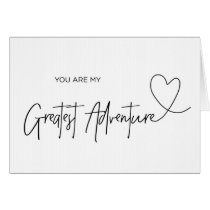 Groom Card You Are My Greatest Adventure Card