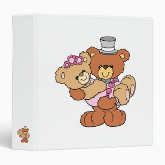 groom carrying bride cute wedding bears 3 ring binder