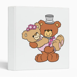 groom carrying bride cute wedding bears binder