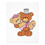 groom carrying bride cute wedding bears personalized invite