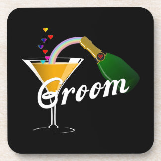 Groom Champagne Toast Beverage Coaster