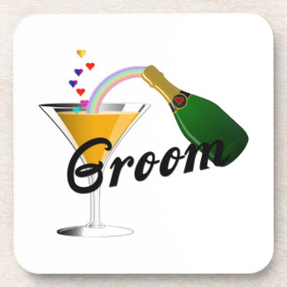 Groom Champagne Toast Beverage Coaster