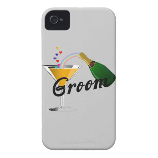 Groom Champagne Toast iPhone 4 Case-Mate Cases