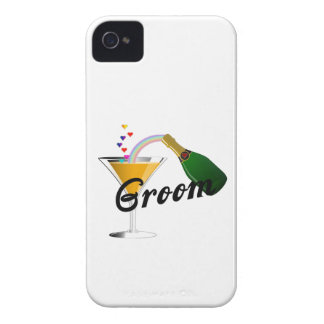 Groom Champagne Toast Case-Mate iPhone 4 Case