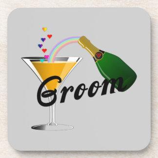 Groom Champagne Toast Drink Coaster