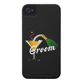 Groom Champagne Toast iPhone 4 Case