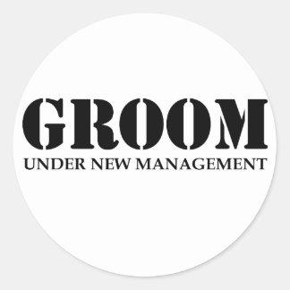Groom Classic Round Sticker