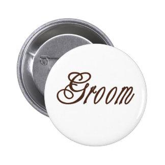 Groom Classy Browns Pin