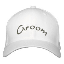 Groom Embroidered Baseball Cap