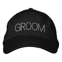 """Groom"" Embroidered Baseball Hat"