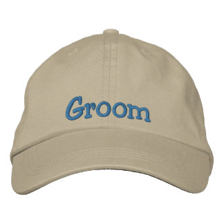 Groom Embroidered Cap Baseball Cap