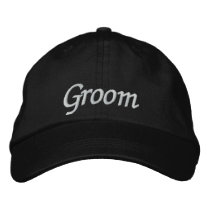 Groom Embroidered Wedding Baseball Cap/Hat Embroidered Baseball Cap
