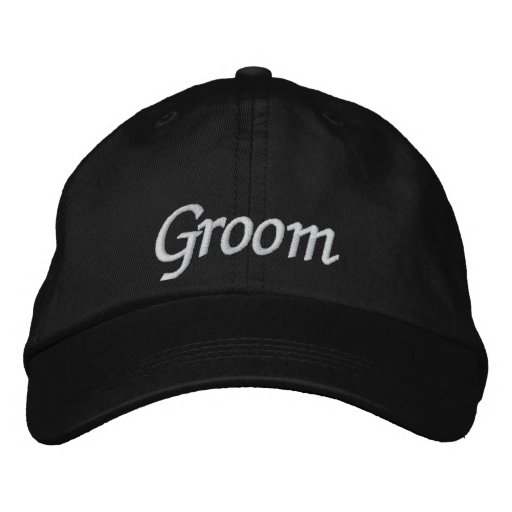 Groom Embroidered Wedding Baseball Cap/Hat Embroidered Baseball Cap