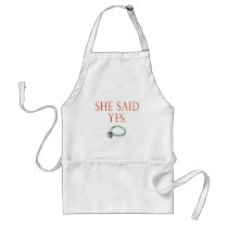 Groom Engagement Gifts and T-shirts Adult Apron
