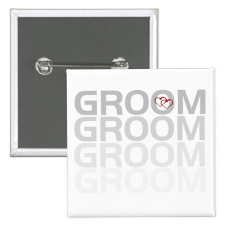 Groom Fade Tshirts and Gifts Button