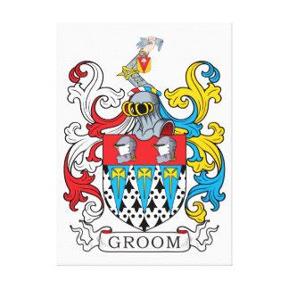Groom Family Crest Canvas Print