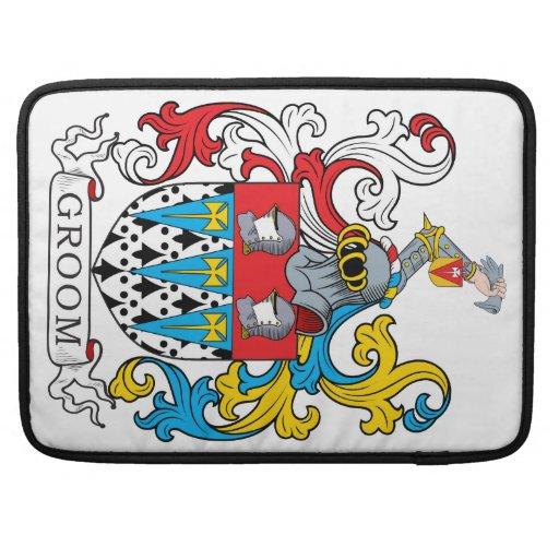 Groom Family Crest Sleeve For MacBooks