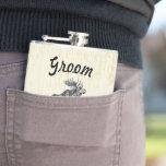 Groom Flask Vintage Moose