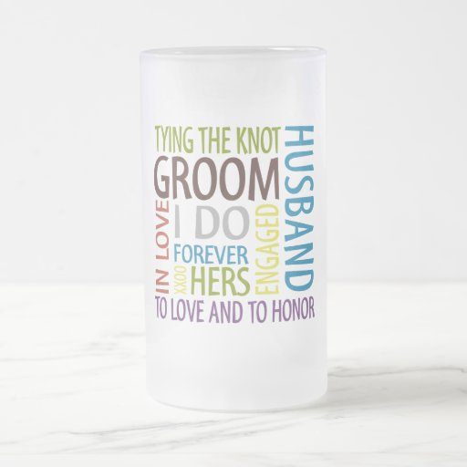 Groom Frosted Glass Mug