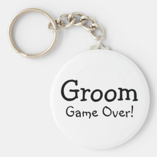 Groom Game Over Basic Round Button Keychain