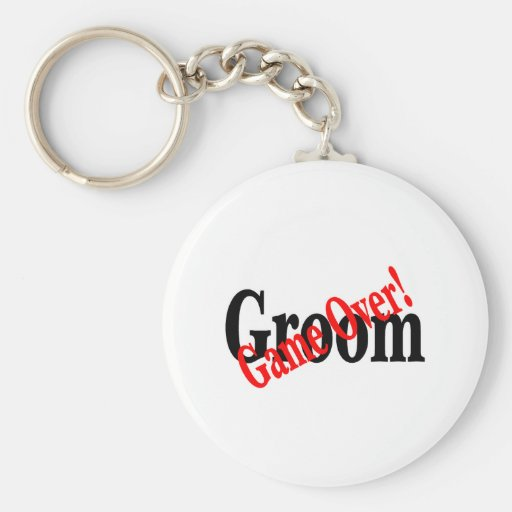 Groom (Game Over Red) Basic Round Button Keychain