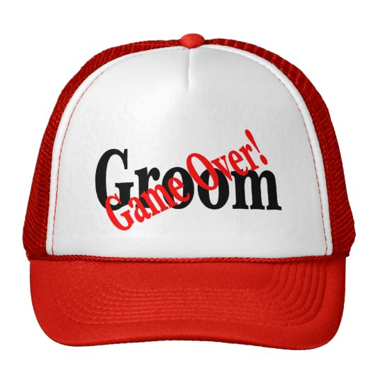 Groom (Game Over Red) Trucker Hat