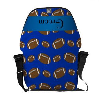 Groom gifts blue football pattern messenger bag